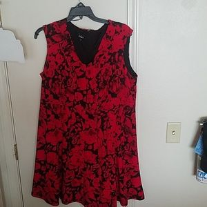 Size 2x black and red cocktail dress